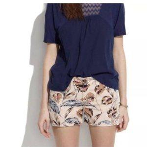 Madewell Denim Cut Off Shorts in Palm Leafy Print